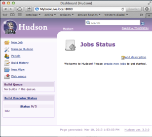 Although My Book Live will run Hudson, the scaled down Linux server is best at serving up files.  Not much else.